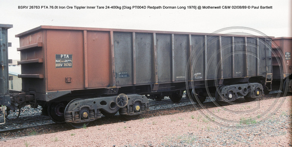 BSRV26763 PTA Iron Ore Tippler Inner @ Motherwell C&W 89-08-02 � Paul Bartlett w