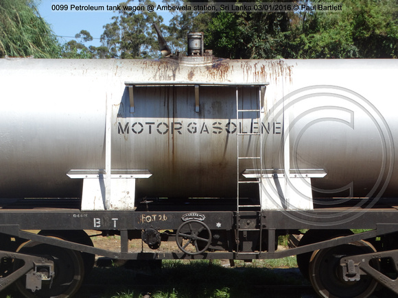 0099 Petroleum tank wagon @ Ambewela station, Sri Lanka 2016-01-03 © Paul Bartlett [4w]