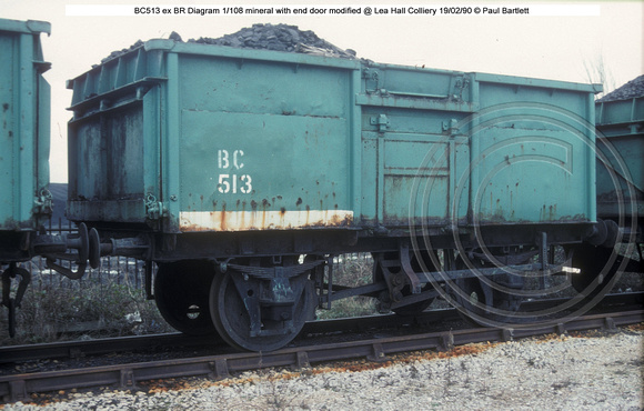 BC513 ex BR mineral @ Lea Hall Colliery 90-02-19 � Paul Bartlett w