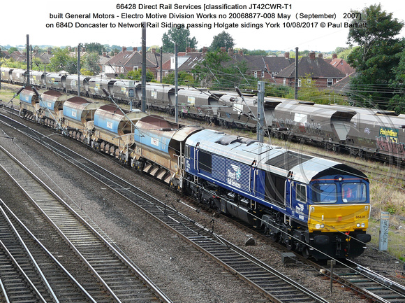 66428 Direct Rail Services on 684D Doncaster to Network Rail Sidings passing Holgate sidings York 2017-08-10 © Paul Bartlett [1]