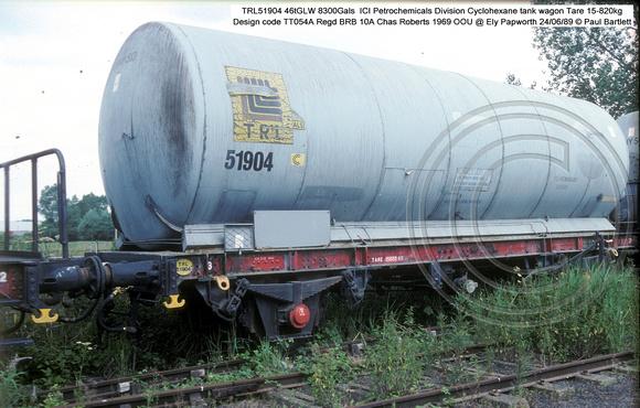 Paul Bartlett's Photographs | TRL Cyclohexane tank wagons