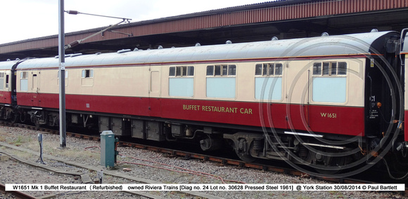 W1651 Mk 1 Buffet Restaurant @ York Station 2014-08-30 � Paul Bartlett [1w]