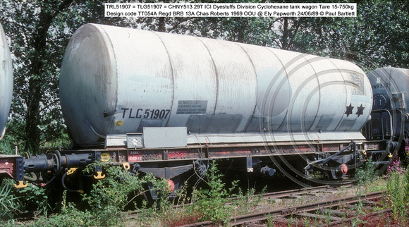 TRL51907 = TLG51907 = CHNY513 ICI Dyestuffs Division OOU @ Ely Papworth 89-06-29 � Paul Bartlett w