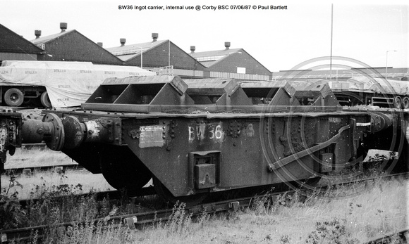 BW36 Ingot carrier, internal use @ Corby BSC 87-06-07 © Paul Bartlett w