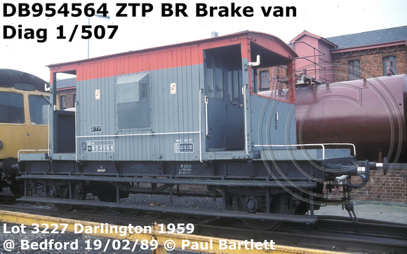 Paul Bartlett s Photographs   BR Brake van diag 1507 CAR