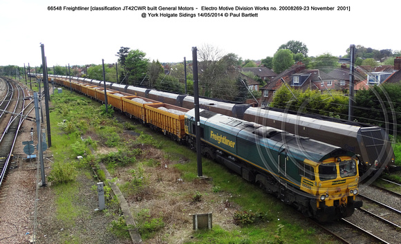 66548 Freightliner @ York Holgate Sidings 2014-05-14 � Paul Bartlett [4w]