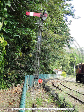 Signal at Kurunda Station of Kurunda Scenic Railway, Queensland 28-09-2014 � Paul Bartlett DSC06288
