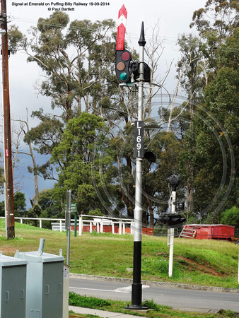 Signal at Emerald on Puffing Billy Railway 19-09-2014 � Paul Bartlett