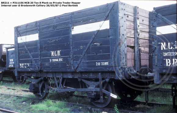 BR211 = P311156 NCB ex Private Trader Hopper Internal user @ Brodsworth Colliery 87-05-26 © Paul Bartlett w