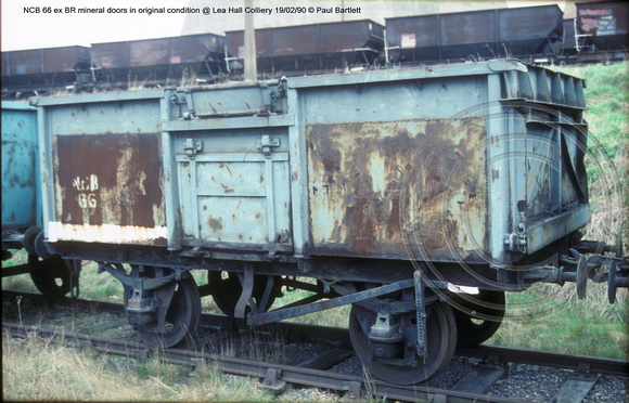 NCB 66 ex BR mineral @ Lea Hall Colliery 90-02-19 � Paul Bartlett w
