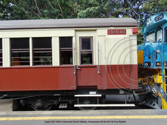 Coach CKV 5004 of Kurunda Scenic Railway, Queensland 28-09-2014 � Paul Bartlett DSC06303