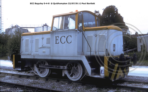 ECC 0-4-0 Baguley @ Quidhampton 91-07-22 � Paul Bartlett [2w]