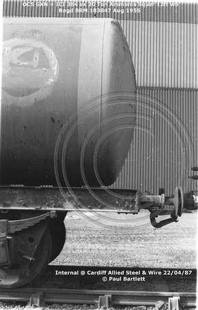 OC5 GKN = ICI 384 ex Ammonia liquer Internal @ Cardiff Allied Steel & Wire 87-04-22 © Paul Bartlett [03aw]