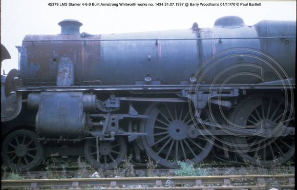 45379 LMS Stanier 4-6-0 Built Armstrong Whitworth works no. 1434 31.07.1937 @ Barry Woodhams 70-11-01 � Paul Bartlett [2w]