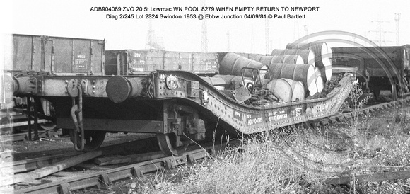 ADB904089 ZVO Lowmac WN @ Ebbw Junction 81-09-04 � Paul Bartlett w