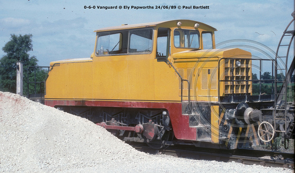 0-6-0 Vanguard @ Ely Papworths 89-06-24 � Paul Bartlett [2w]