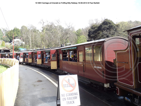 Train at Belgrave on Puffing Billy Railway 19-09-2014 � Paul Bartlett