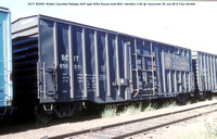 BCIT 850001 British Columbia box car @ Vancouver 09 July 88 � Paul Bartlett w