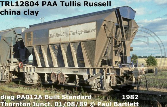 Paul Bartlett's Photographs: Tullis Russell PAA China clay covhop TRL12300 TRL12800 &emdash; TRL12804 PAA