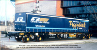 Intermodal wagons for Piggyback road trailer PXA