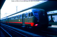 Single car DMUs to Ancona @ Bologna 08-1968 © Paul Bartlett w