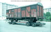 01 80 124 9 349-2 German van on road trailer @ Milan Motorail Depot in July 1995 © Paul Bartlett w