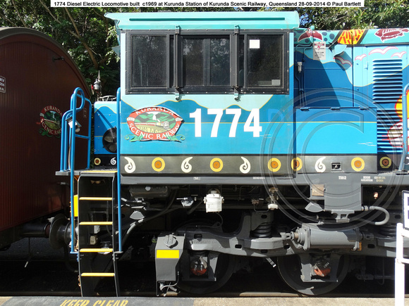 1774 at Kurunda Station of Kurunda Scenic Railway, Queensland 28-09-2014 � Paul Bartlett DSC06301
