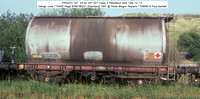 PR55231 Petroleum ex Elf VIP Class A tank @ Stoke Wagon Repairs 85-08-17 � Paul Bartlett w