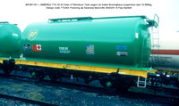 BPO67161 = SMBP622 TTA 32.4t Class A Petroleum Tank wagon air brake Design code TT026X Pickering @ Swansea Marcrofts 91-03-09 © Paul Bartlett [2w]