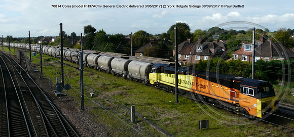 70814 Colas [model PH37ACmi General Electric delivered 03-05-2017] @ York Holgate Sidings 2017-09-30 © Paul Bartlett [04w]