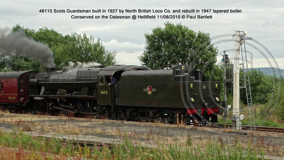 46115 Scots Guardsman Conserved on the Dalesman @ Hellifield 2015-08-11 © Paul Bartlett [1]