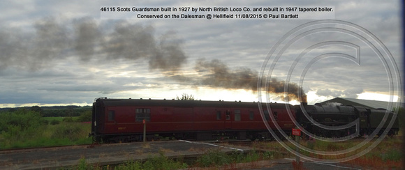 46115 Scots Guardsman Conserved on the Dalesman @ Hellifield 2015-08-11 © Paul Bartlett [3]
