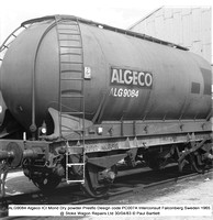 ALG9084 Algeco ICI Mond Dry powder Presflo Des code PC007A @ Stoke Wagon Repairs 83-04-30 © Paul Bartlett w