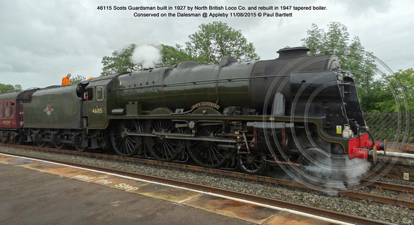 46115 Scots Guardsman Conserved on the Dalesman @ Appleby 2015-08-11 © Paul Bartlett [02]
