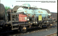 Dow Chemicals Bromine tank wagon - ferry registered