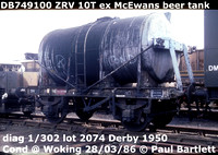 BR Tank wagons - Scottish cables, Beer, Henry Diaper, Townson Tanker ZRV.