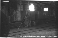 Pit head 87-04-24 Cynheidre Colliery © Paul Bartlett [1W]