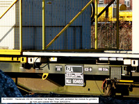 NLU93465 JZA Container Flat Wagon Ventilators @ York yard outside NR Thrall 2014-02-20 [04w]