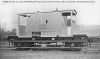 B950884 20T Brake van unfitted LONDON MIDLAND Photograph date 9-10-50 Tare 19-8 Diag 1-506 Lot 2137 Darlington 1950 © Paul Bartlett Collection w