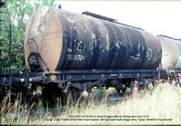 TRL51724 = A724 Class B lagged tank @ South Staffs Wagon Wks, Tipton 83-08-19 � Paul Bartlett w