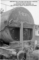SMBP2065 tank wagon with Steel frame, riveted tank, bracing wires Built 1915 @ Tunnel Cement, Pitstone Tring 26-01-91 © Paul Bartlett [11w]