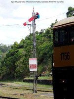 Signal at Kurunda Station of Kurunda Scenic Railway, Queensland 28-09-2014 � Paul Bartlett DSC06291