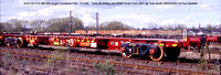 610116 FCA 60ft Bogie Container Flat (2-unit) @ York North 2001-04-28 © Paul Bartlett [1w]