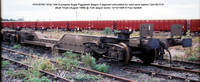 PIGY97001 KDA Bogie Piggyback Wagon @ York wagon works 99-10-10 � Paul Bartlett [10w]