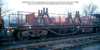 KDB923569 YVV ex  Bogie Bolster E as Cable Drum carrier POOL No. 8453 [Diag 1-479 lot 3343 Ashford 1961] @ Reading West 83-01-23 © Paul Bartlett w