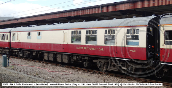 W1691 Mk 1 Buffet Restaurant (Refurbished) @ York Station 2014-08-30 � Paul Bartlett [1w]