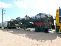 AMRZ255 Great Southern Rail Motorail 2 – tier car carrier @ Cook Station 8 May 2017 © Paul Bartlett [1]