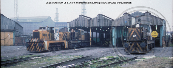 Engine Shed 25, 76 @ Scunthorpe  BSC 88-09-21 � Paul Bartlett w