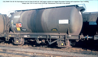 CGL70409 TUA Charringtons Fuel Oil Class B GAS OIL Tank wagon non lagged Gloucester Floating axle suspension  Design code TU017A built Procor [1979] @ Thameshaven 86-01-25 © Paul Bartlett w